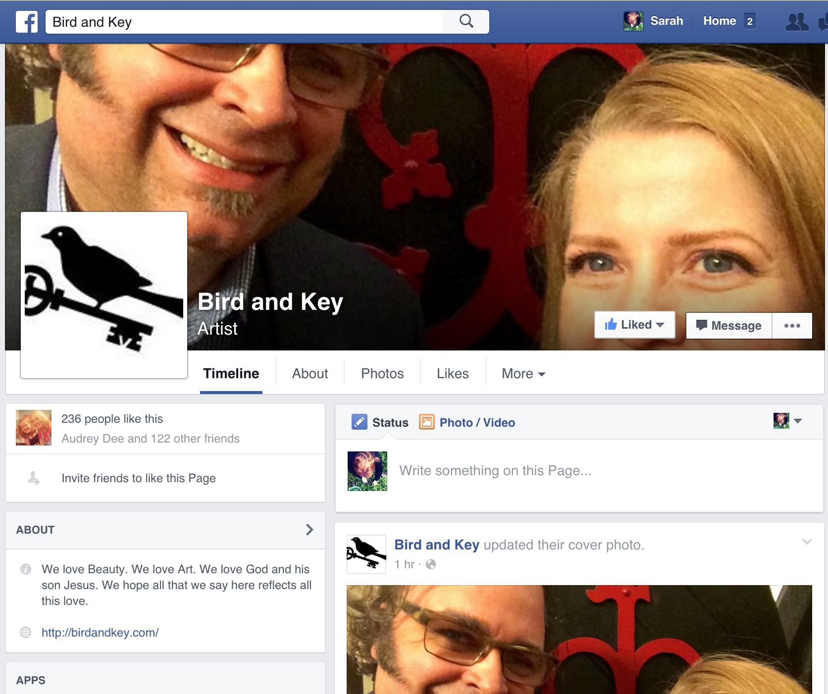 Bird and Key on FB